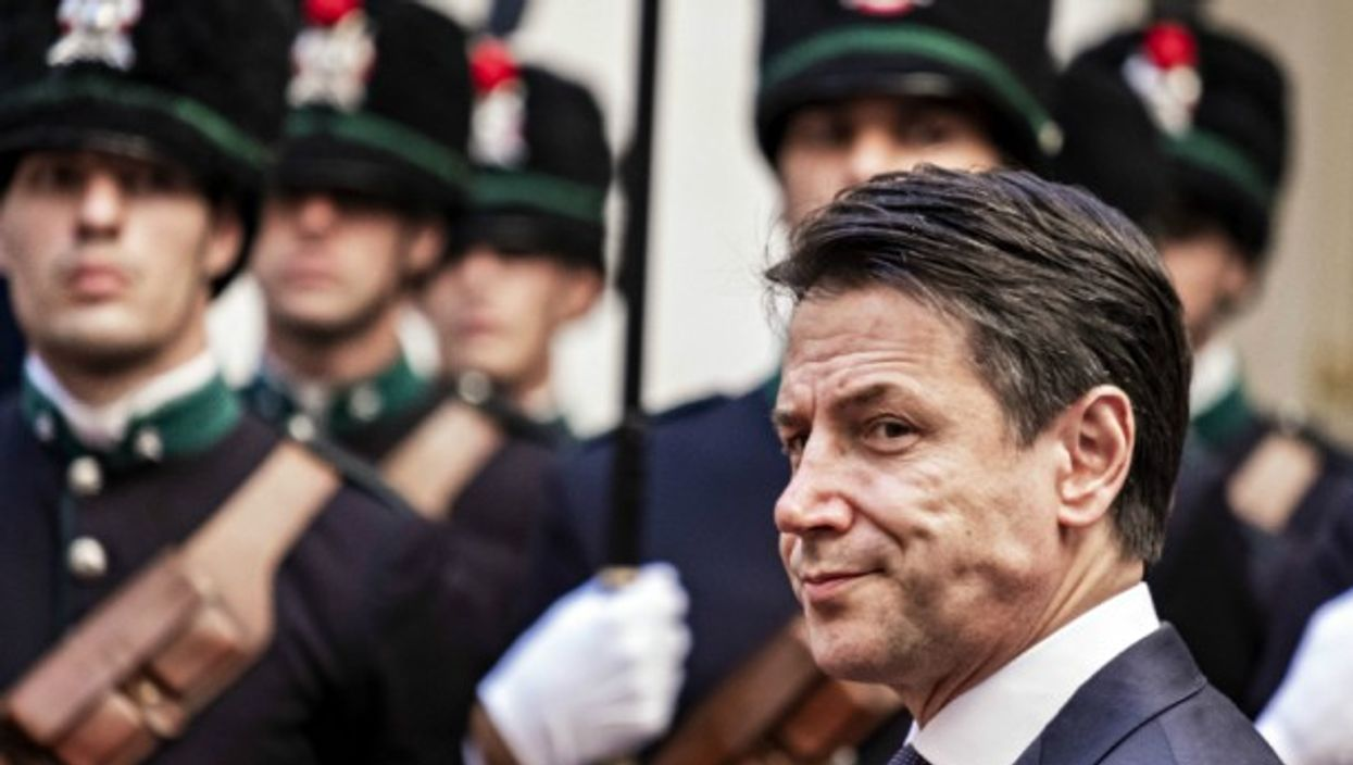 Outgoing PM Giuseppe Conte in Rome