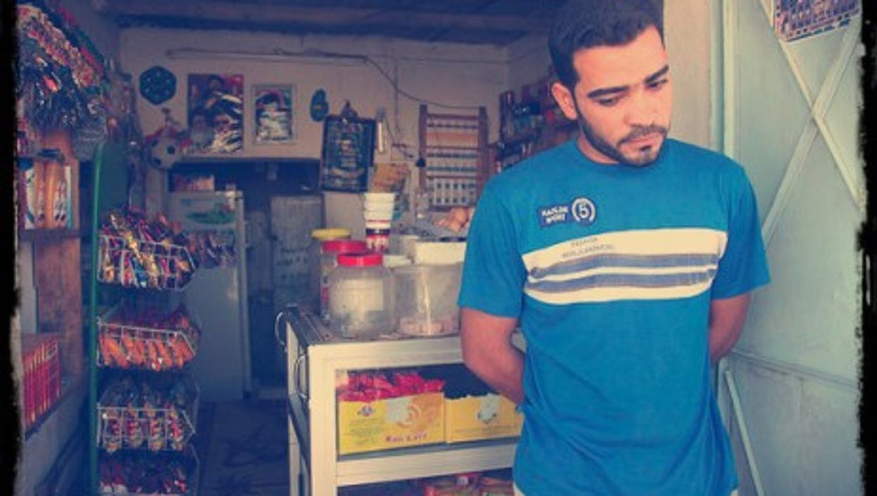 Outside a shop in Basra