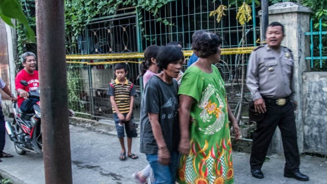 Outside home of suspect in June's terror attack on North Sumatra Police Headquarters