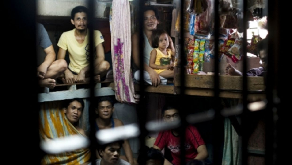 Overcrowded cell.