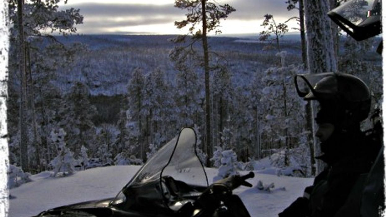 Overlooking the Russian border from Finland
