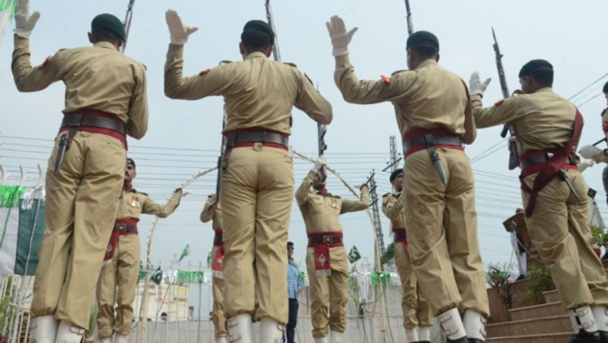 Pakistani soldiers honor martyrs earlier this month