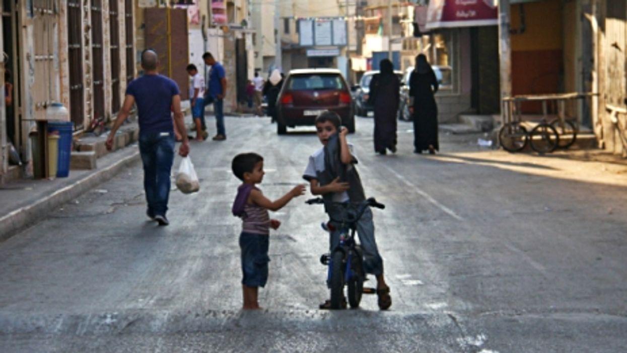 Palestinian children playing in Jenin