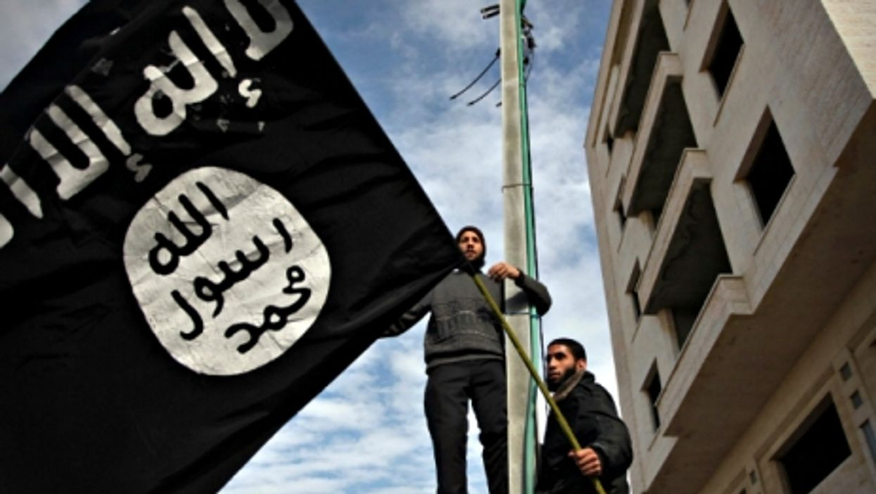 Palestinian Salafists wave ISIS flags in Gaza City