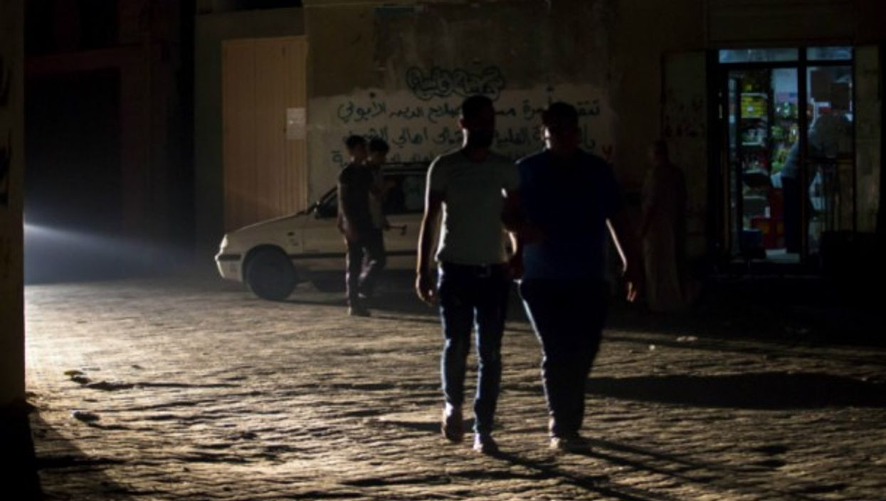 Palestinians in the Jabalia refugee camp in Gaza during a recent power outage.
