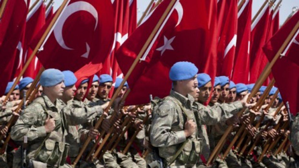 Parading in Ankara