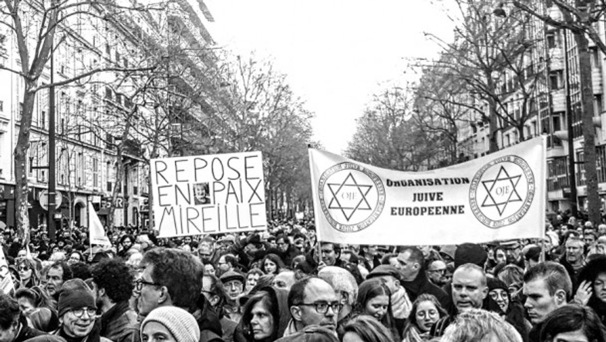 Paris march in memory of slain Mireille Knoll on March 28