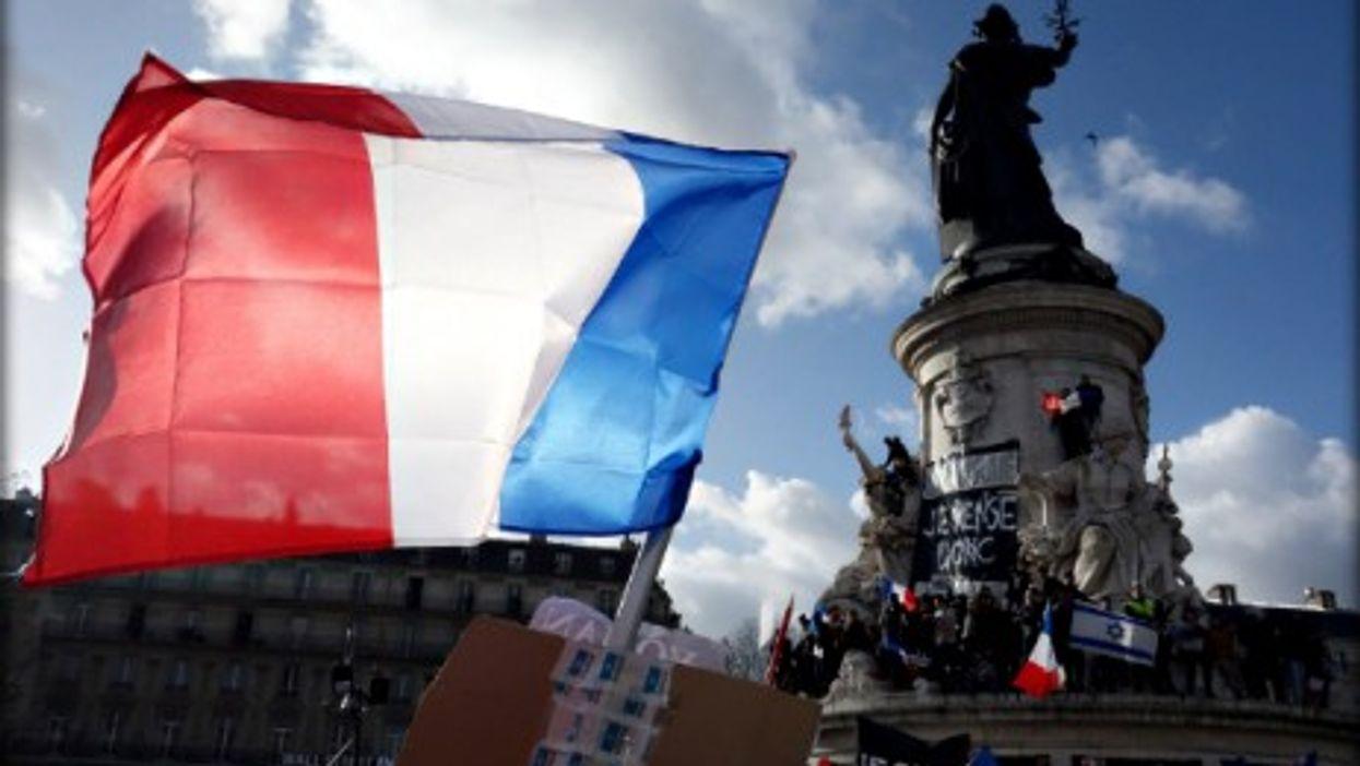 Paris' Place de la République on Jan. 11