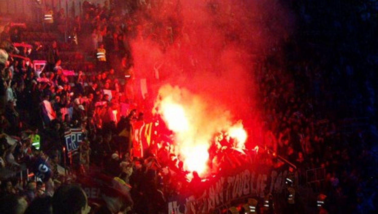 Paris Saint-Germain's fans during a 2007 UEFA Cup match
