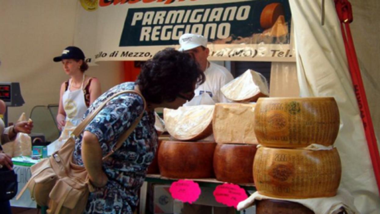 Parmigiano-Reggiano festival in Modena, Italy