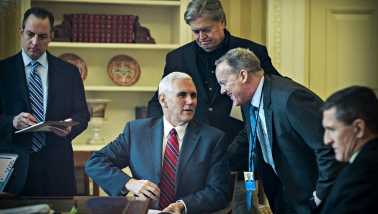 Part of Trump's core team (Flynn on far right)