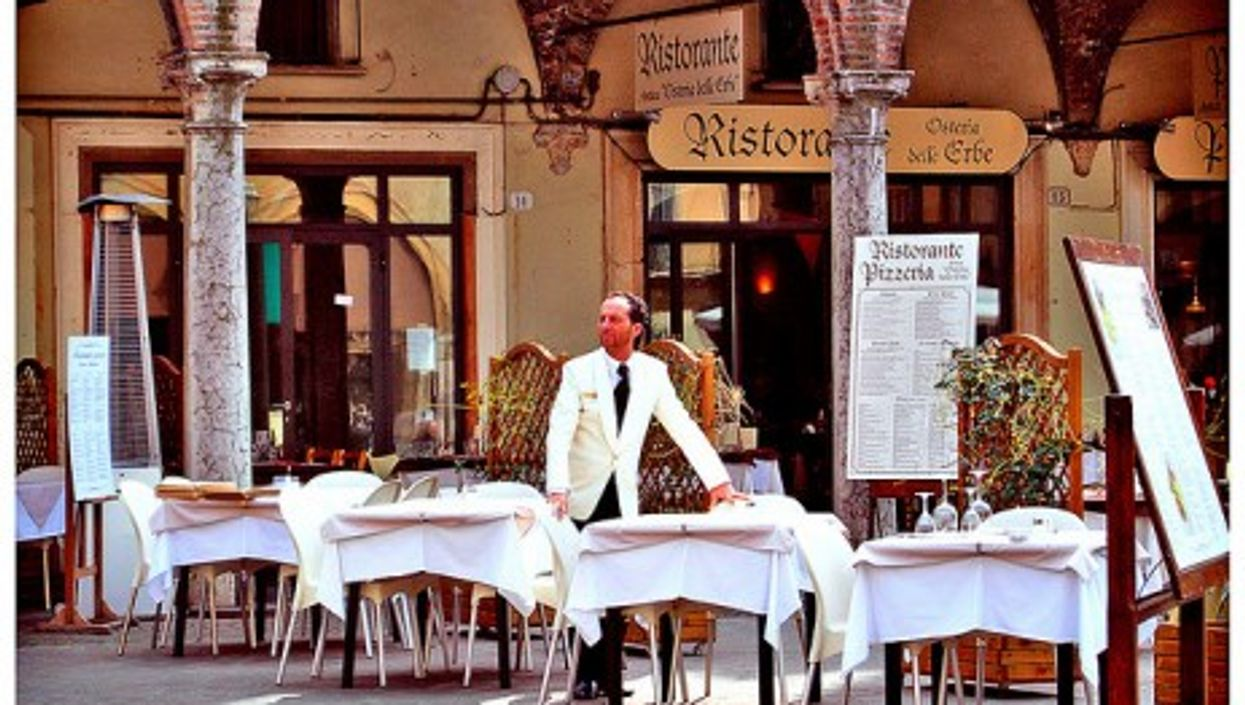 Pasta with pumpkin is on every menu in Mantua (alessandraelle)