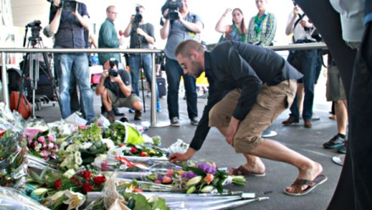 Paying tribute in Amsterdam to the victims of the MH17 crash.
