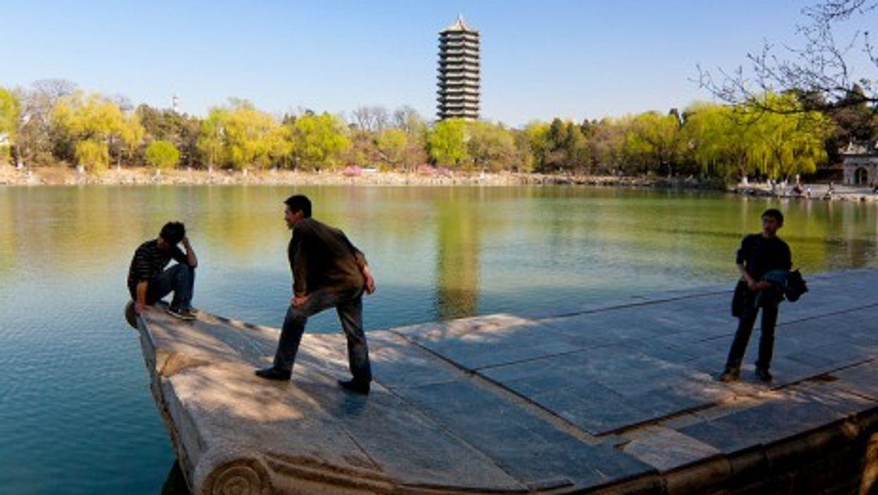 Peking University's lake and pagoda (ML_Duong)