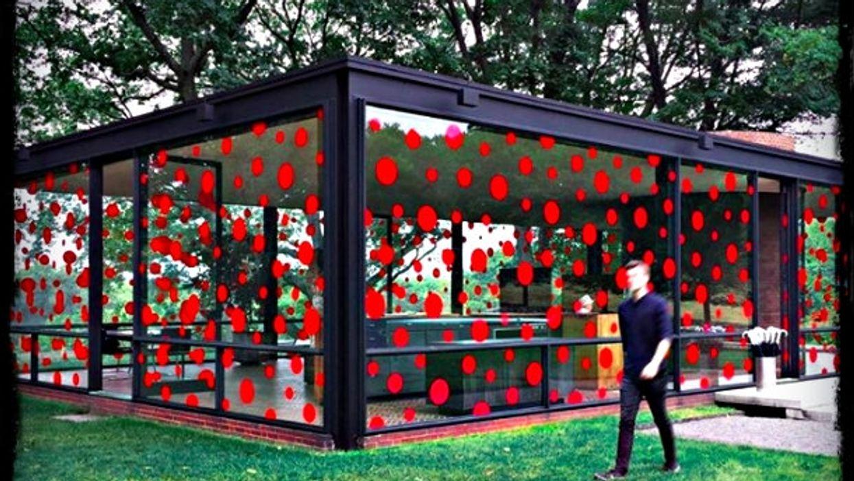 Phillip Johnson Glass House (with Kusama dots)