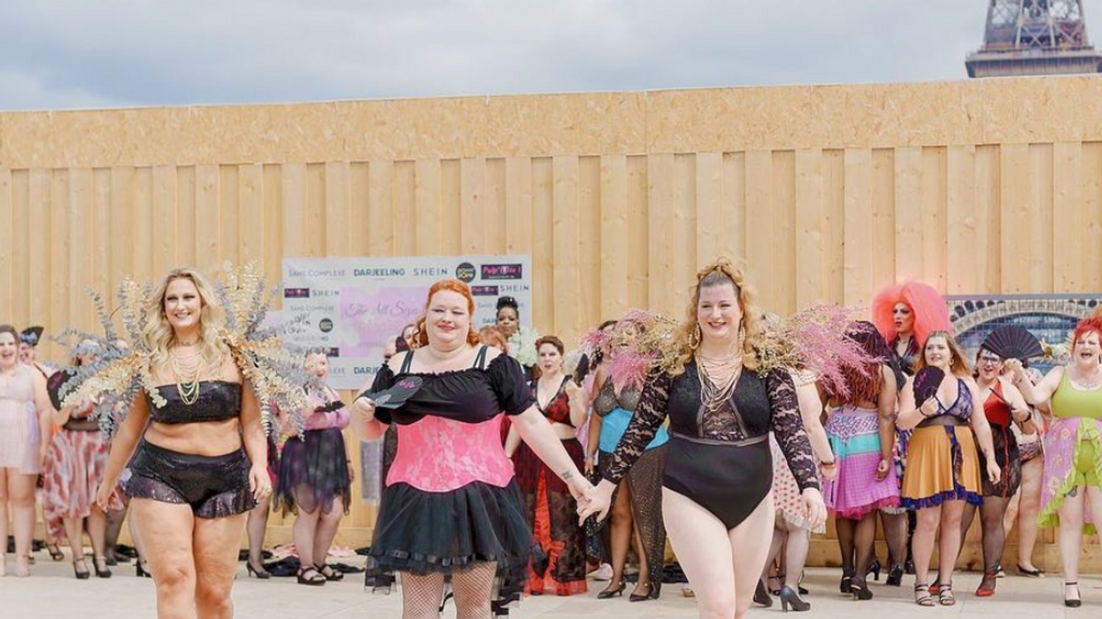 Photo of three women in an All Sizes Catwalk, a body positive event