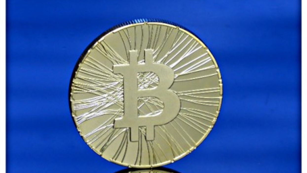 Physical representation of the Bitcoin digital currency