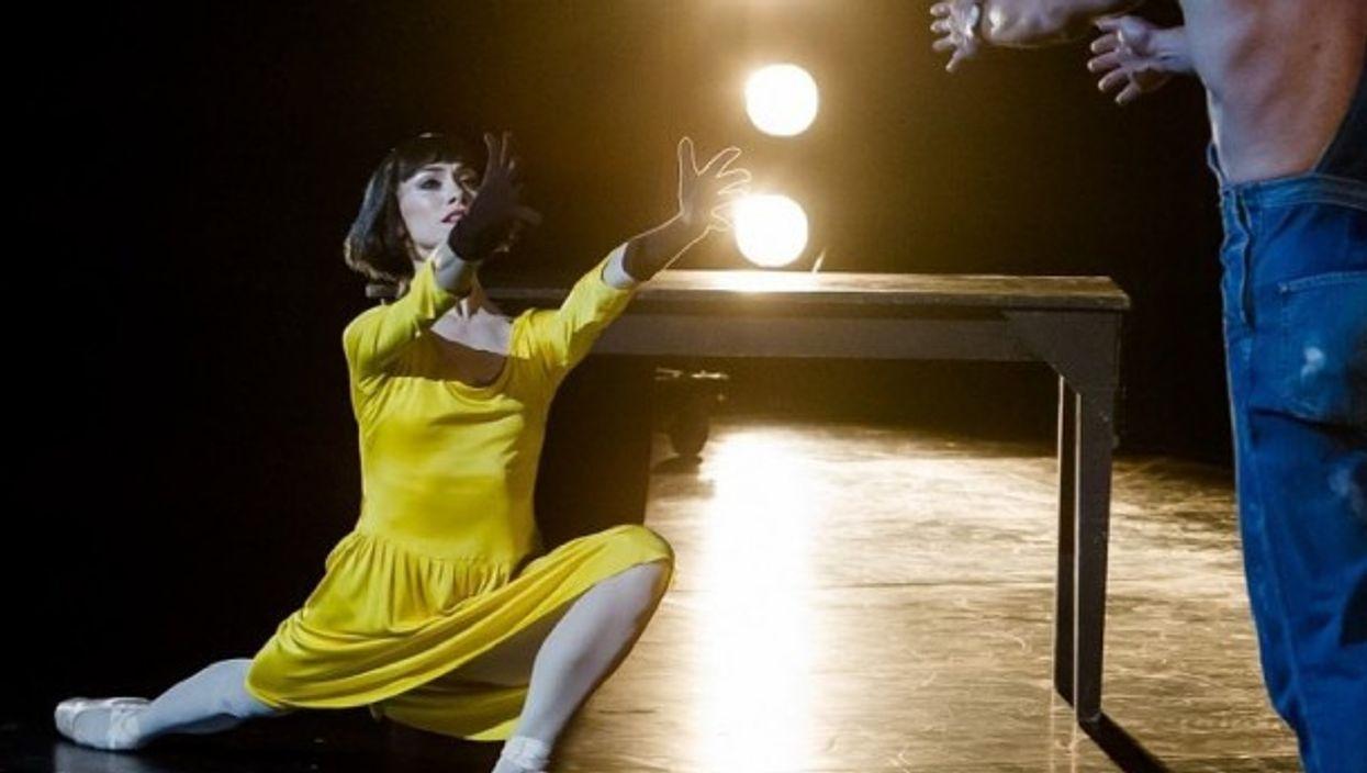 Picture of prima ballerina Eleonora Abbagnato on stage