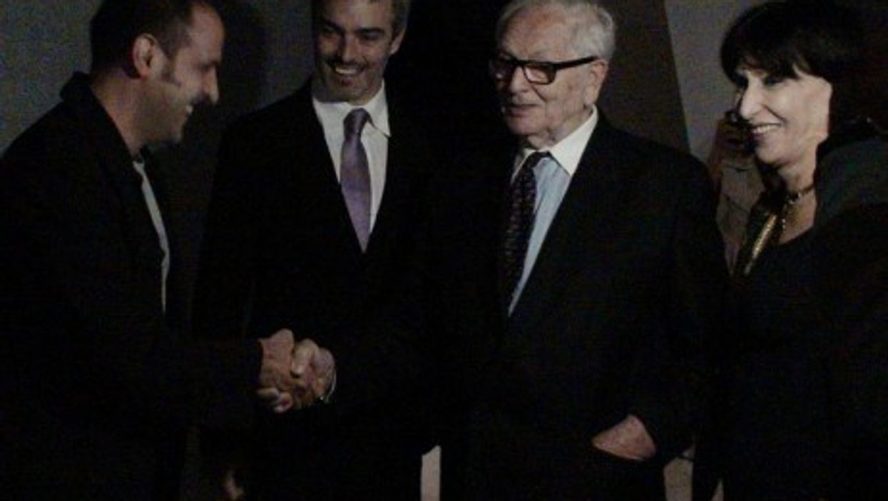 Pierre Cardin, second from right