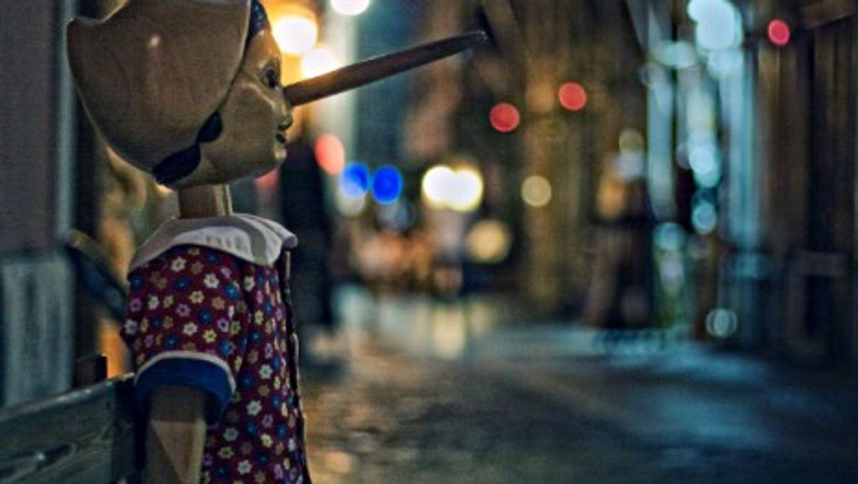 Pinocchio puppet in Rome
