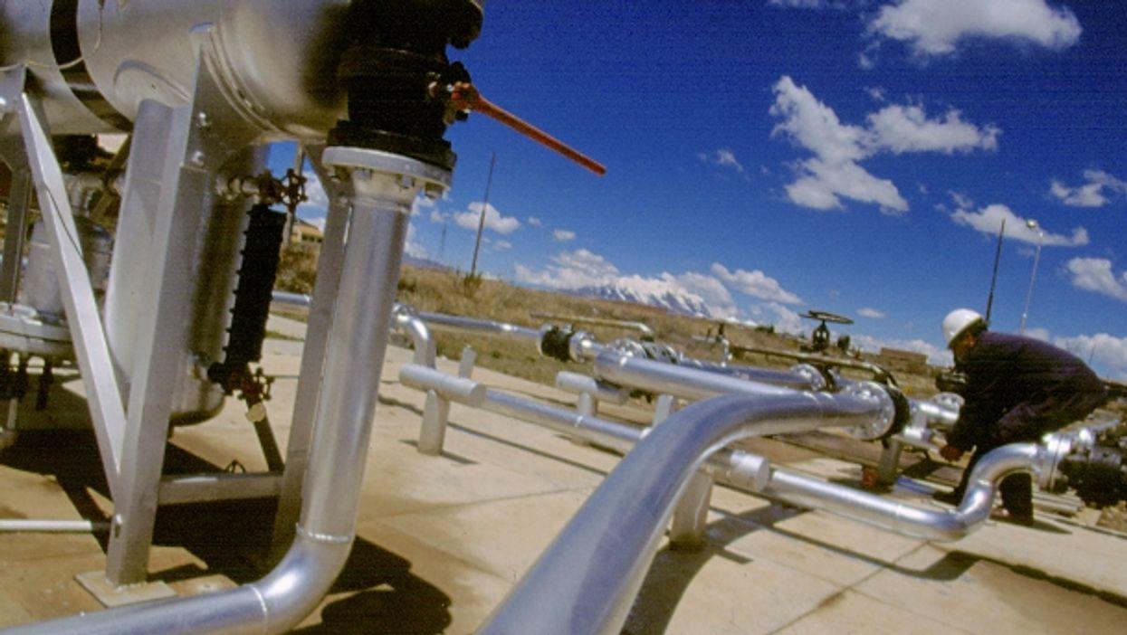 Pipeline in Sencata central station, Bolivia