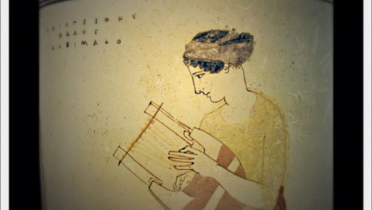 Playing the lyre
