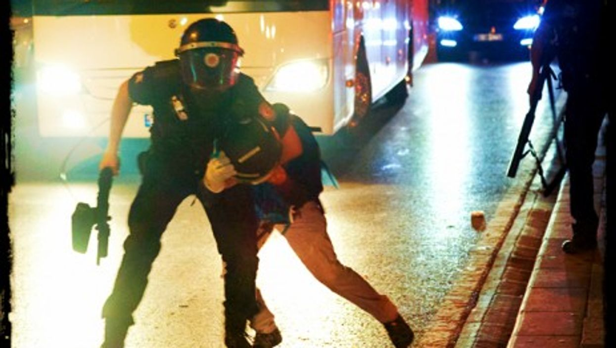 Police action during Gezi park protests in Istanbul June 16
