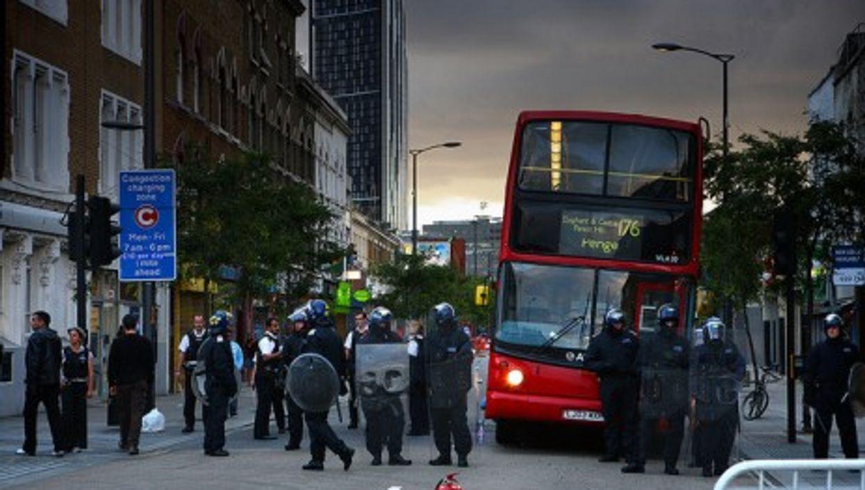 Police anti-riot forces earlier this week (hozinja)