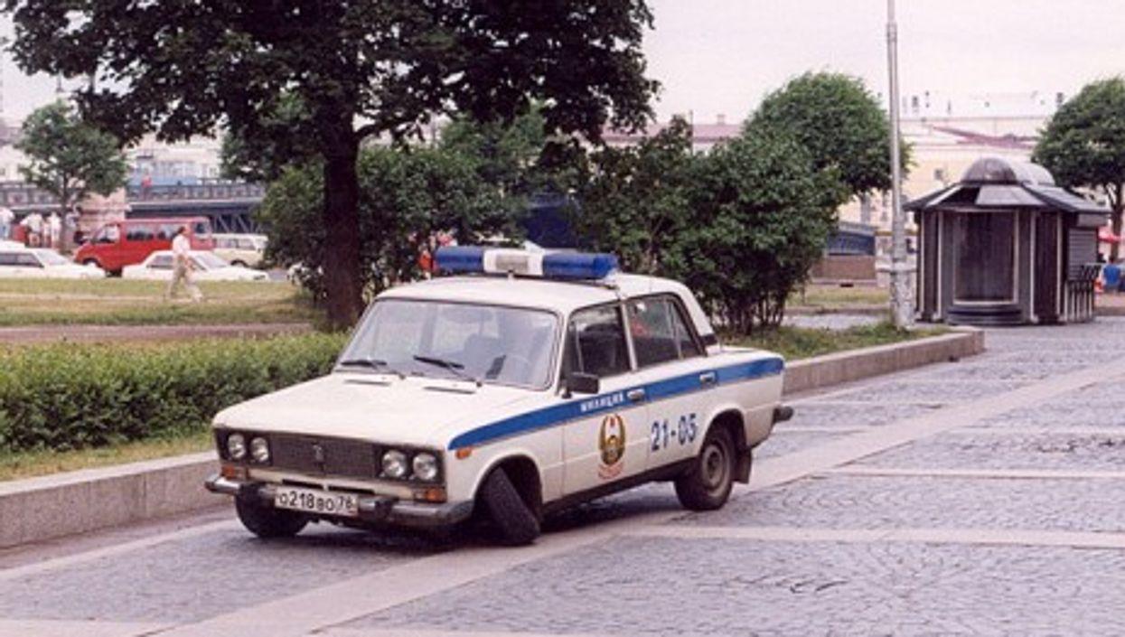 Police car in St Petersburg