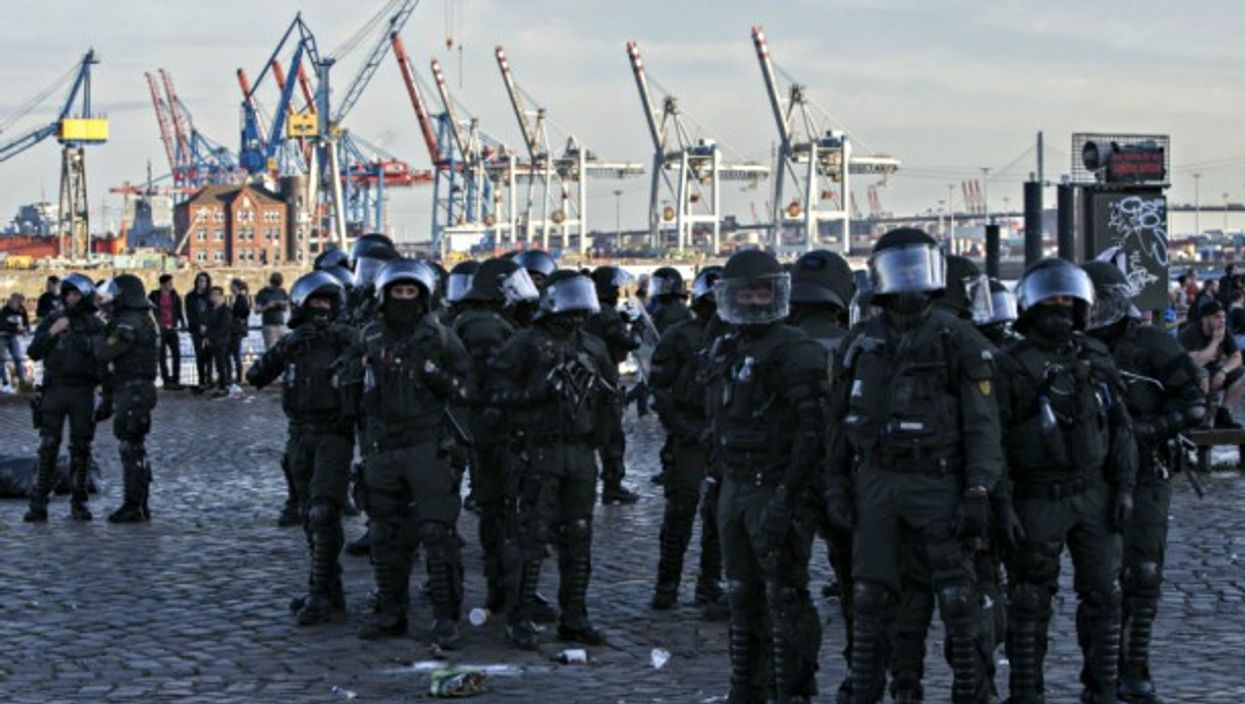 Police forces in Hamburg on July 6