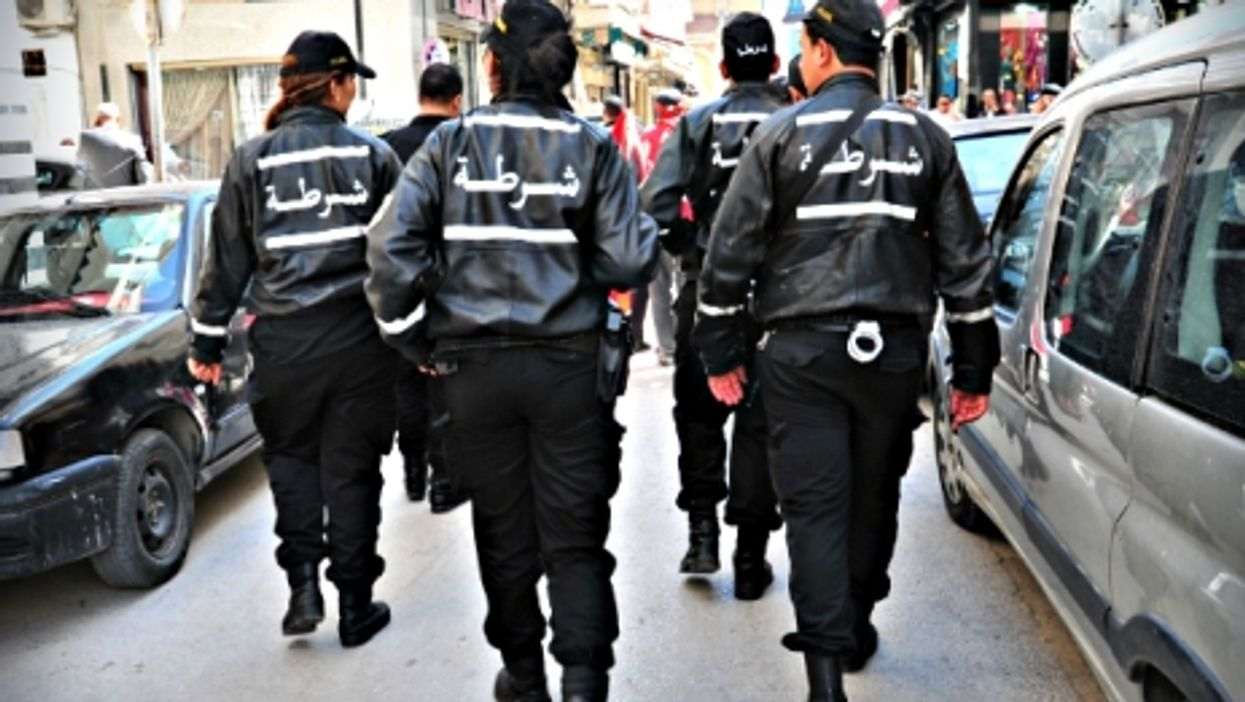 Police forces on patrol in Tunis