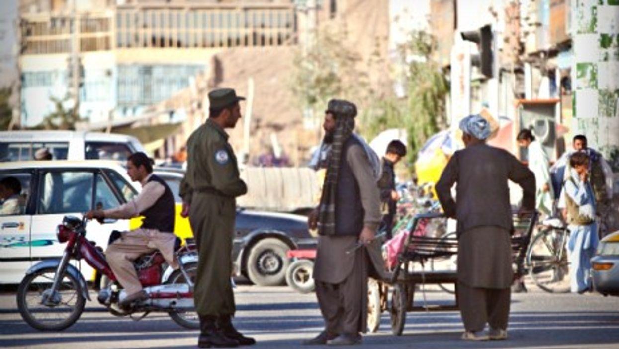 Police officer in Herat, Afghanistan