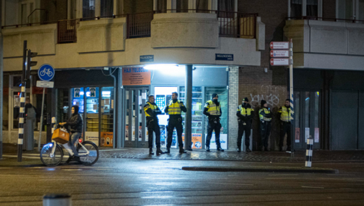 Police officers in Amsterdam on Jan. 27