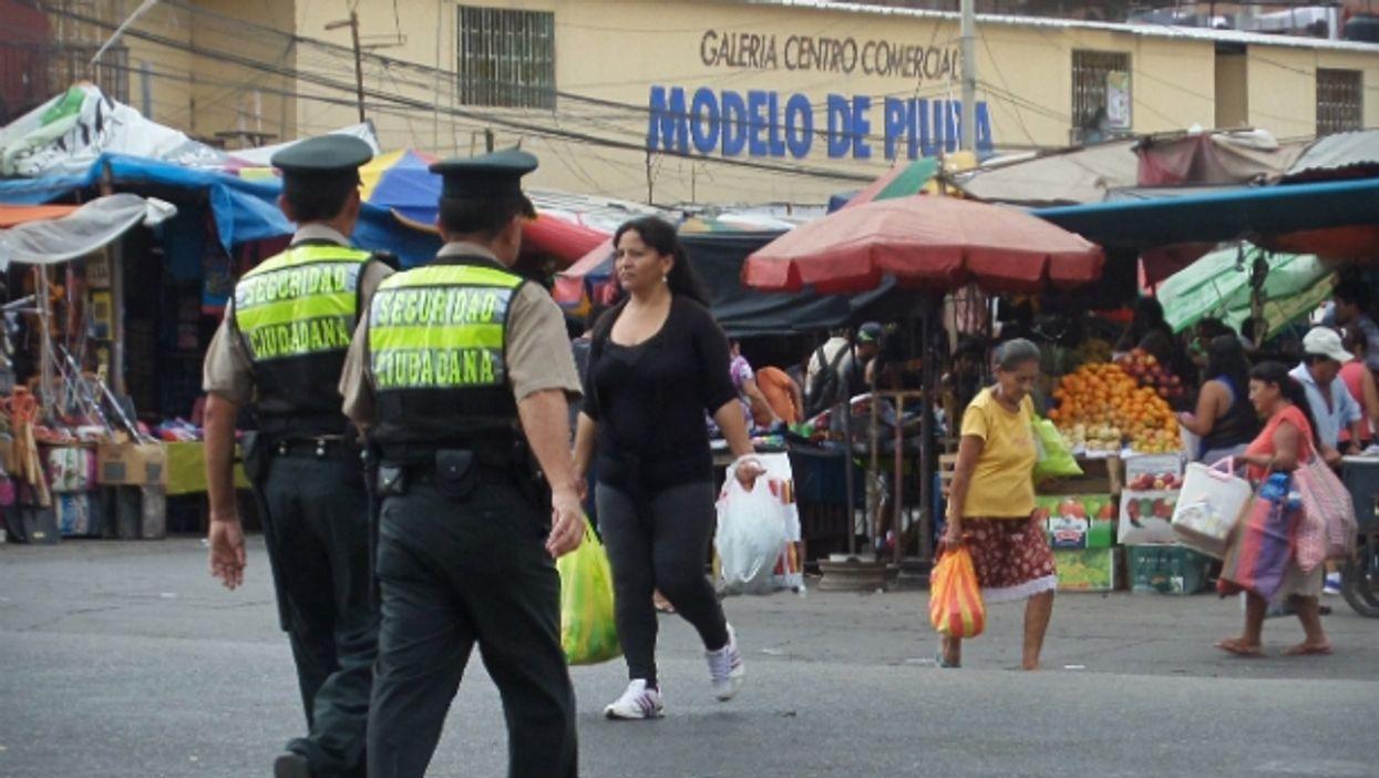 Police officers in Piura, Peru