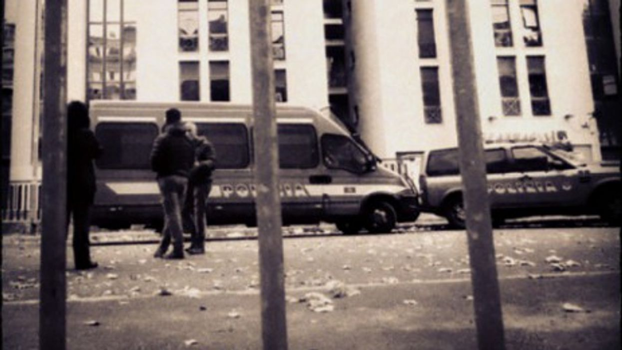 Police vehicles in Tor Sapienza on Nov. 15
