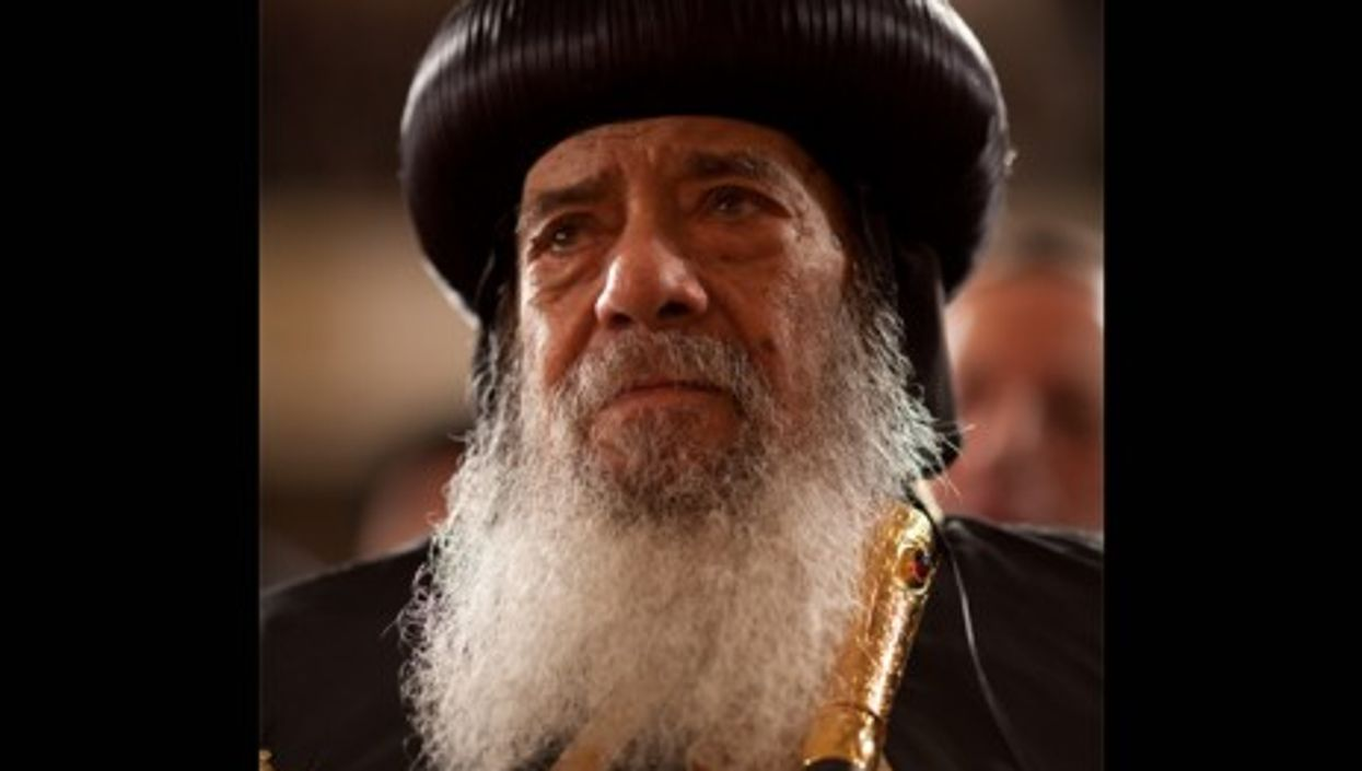 Pope Shenouda III at Cairo University in Egypt in June 2009 (Chuck Kennedy)