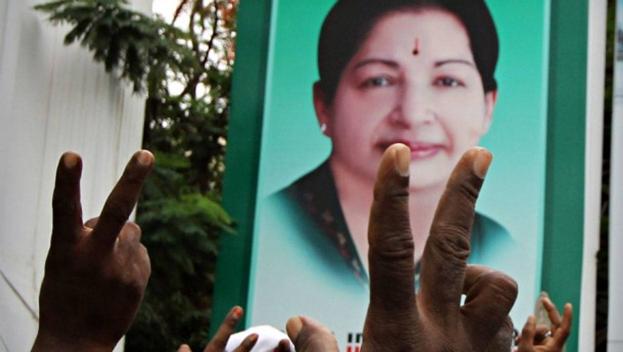Portrait of 'Amma' in Chennai, India