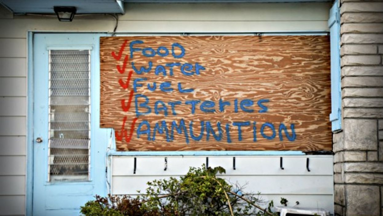 Preparing for the worst in Lake Worth, Florida.