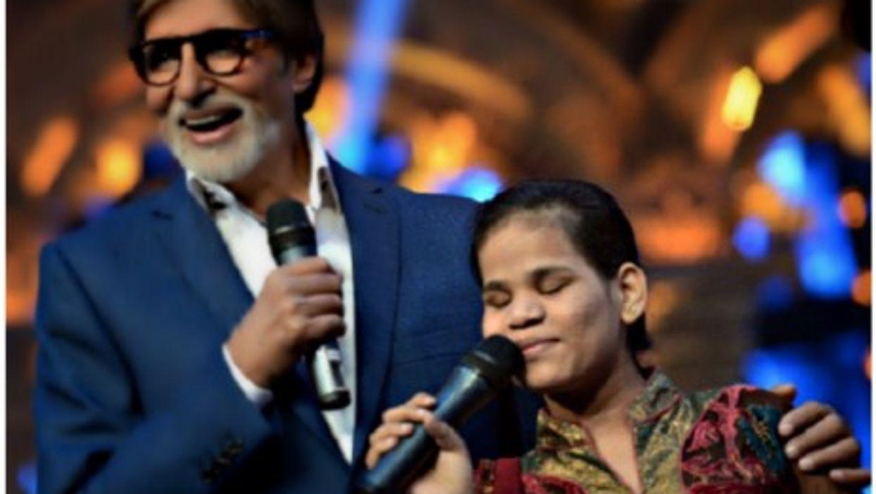 Prerna Agarwal with Bollywood actor Amitabh Bachchan