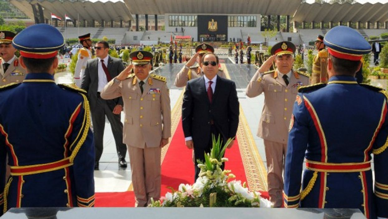 President al-Sisi honoring fallen soldiers in Cairo last April