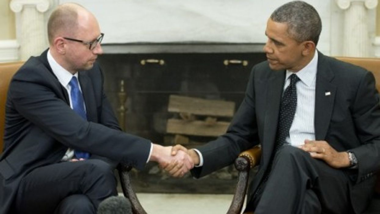 President Barack Obama and Ukraine Prime Minister Arseniy Yatsenyuk