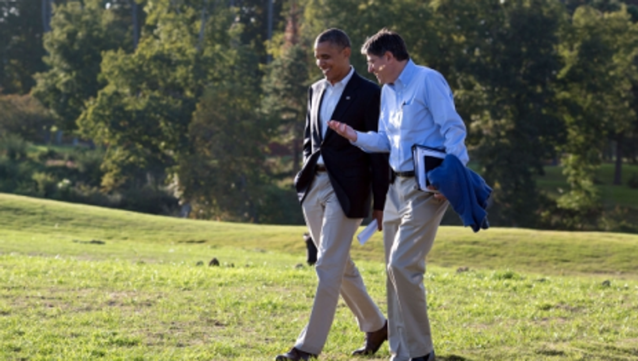 President Barack Obama with his Chief of Staff Jack Lew