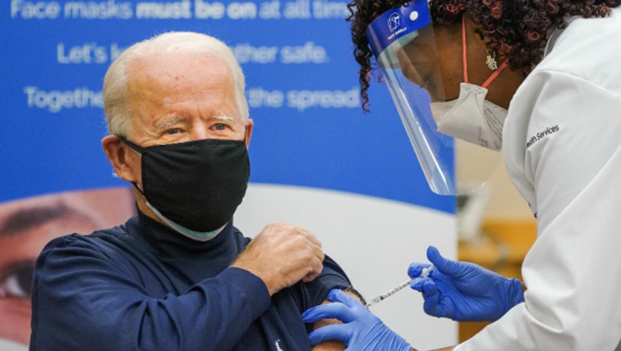 President Biden getting vaccinated on Dec. 21