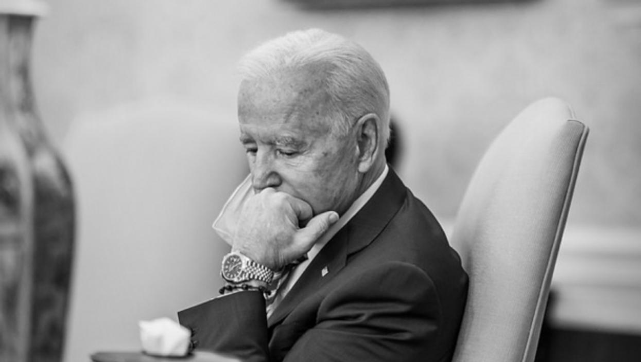 President Biden in the White House on Feb. 21