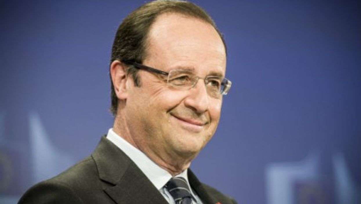 President François Hollande all smiles last May
