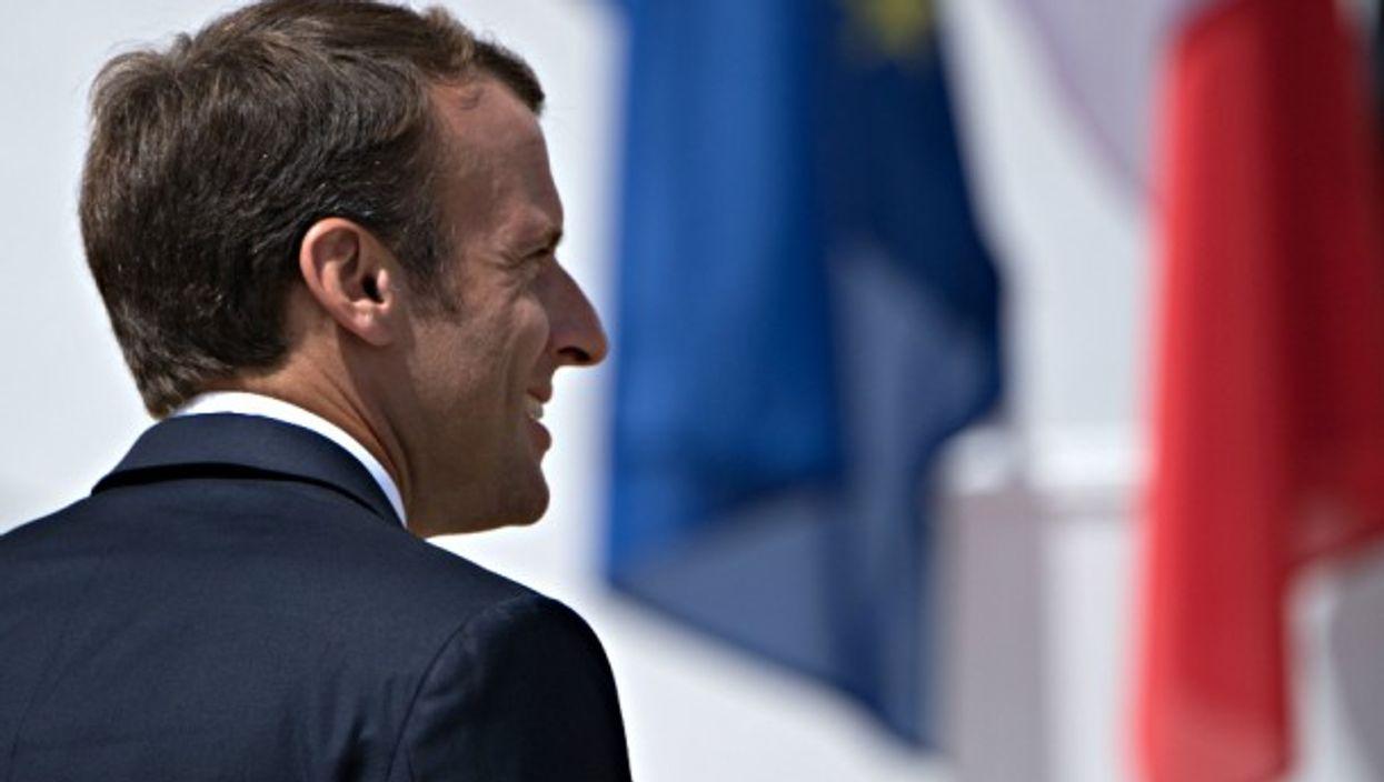 President Macron pictured in Germany in June