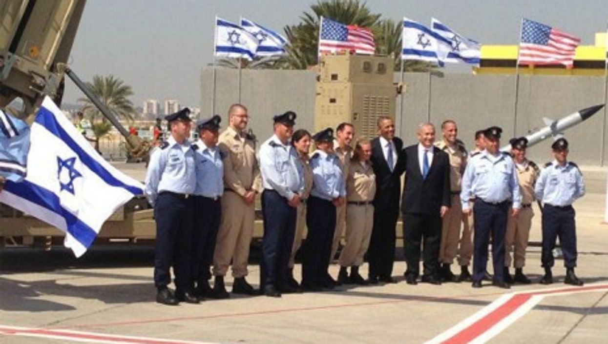 President Obama's March 20, 2013 visit of an Iron Dome Battery in Tel Aviv, Israel