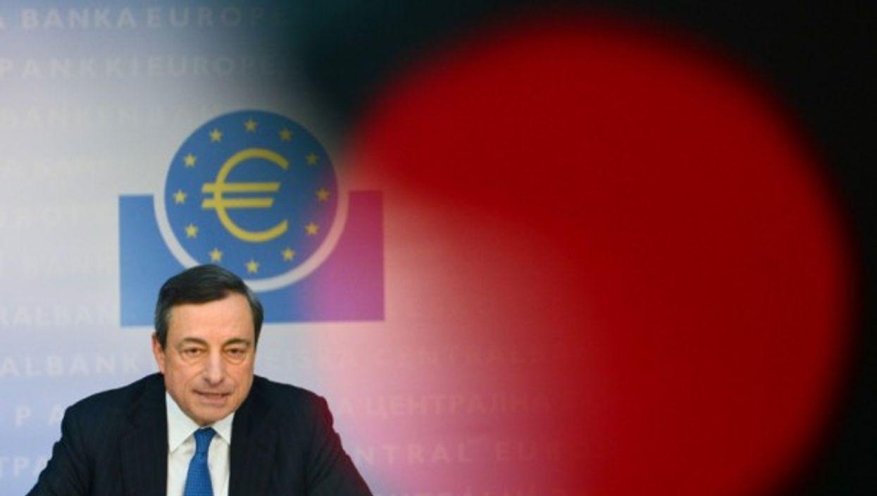 President of the ECB Mario Draghi in Frankfurt