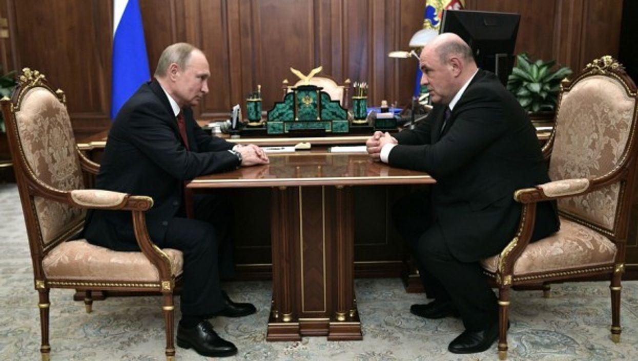President Putin and his new Prime Minister Mikhail Mishustin on Thursday