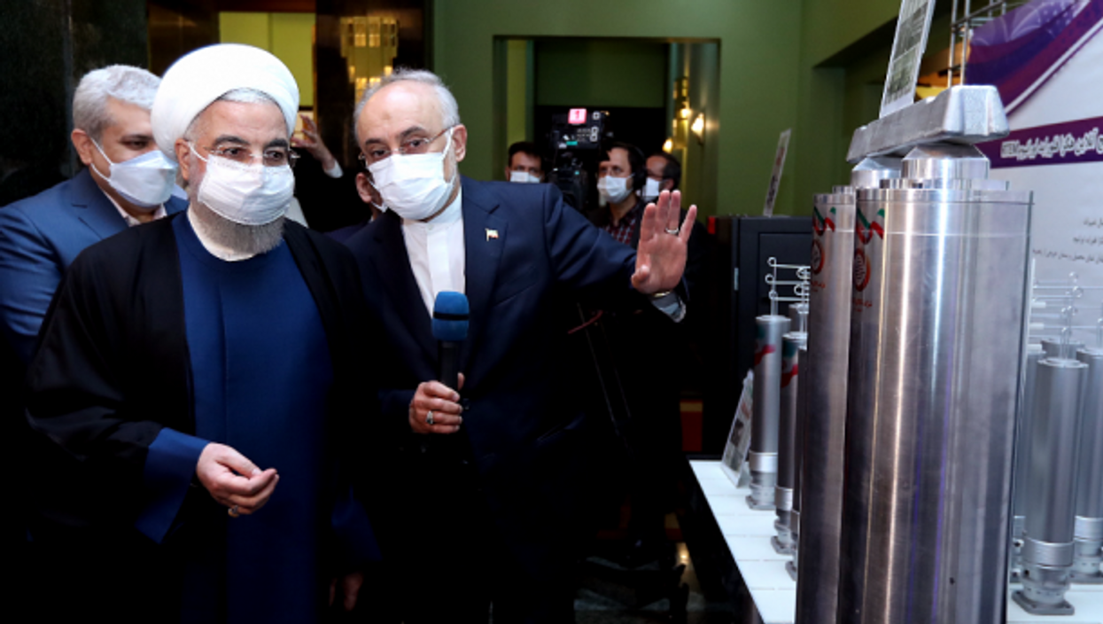 President Rouhani visits Tehran's Nuclear Technology exhibition in April